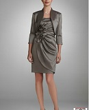 Taffeta Jacket Dress with 3D flower