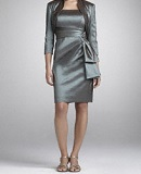 Taffeta Jacket Dress with Bow Detail